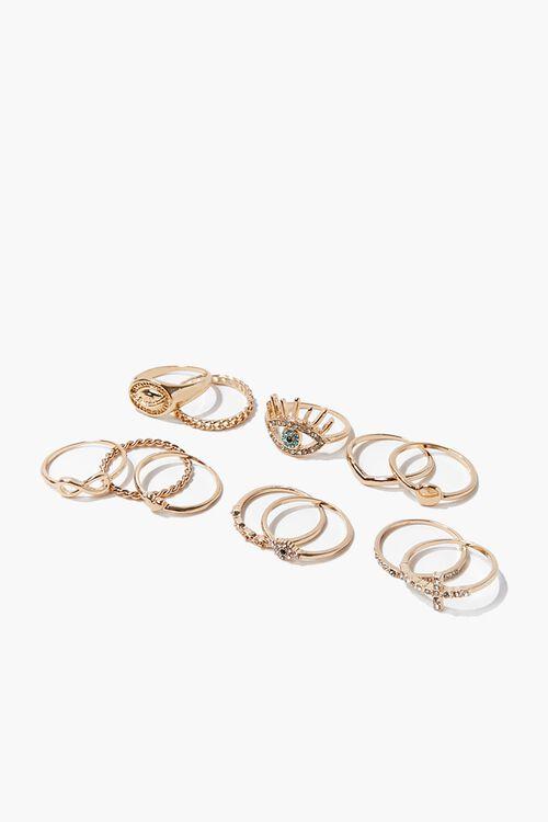 Eye Charm Variety Ring Set, image 1