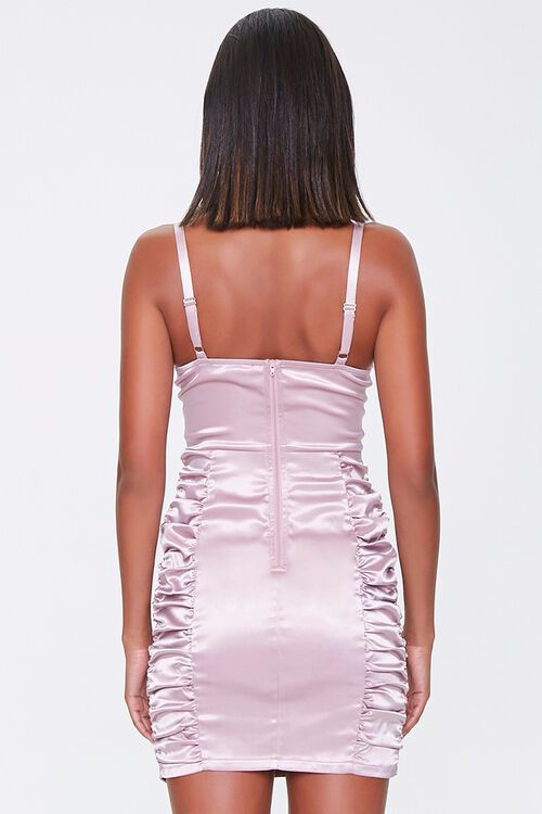 Ruched Satin Bodycon Dress, image 3