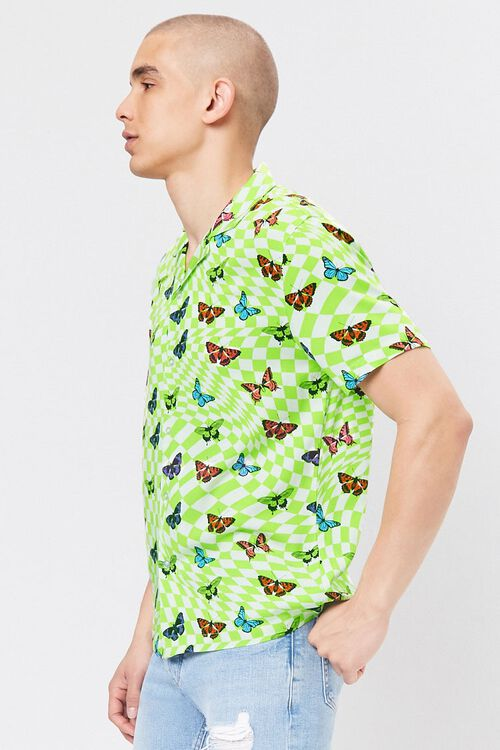 Classic Fit Checkered Butterfly Shirt, image 2