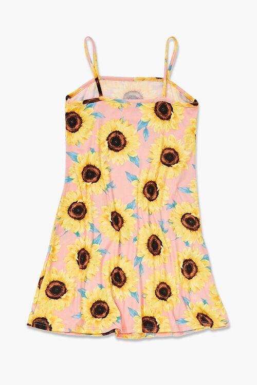 Girls Sunflower Print Dress (Kids), image 2