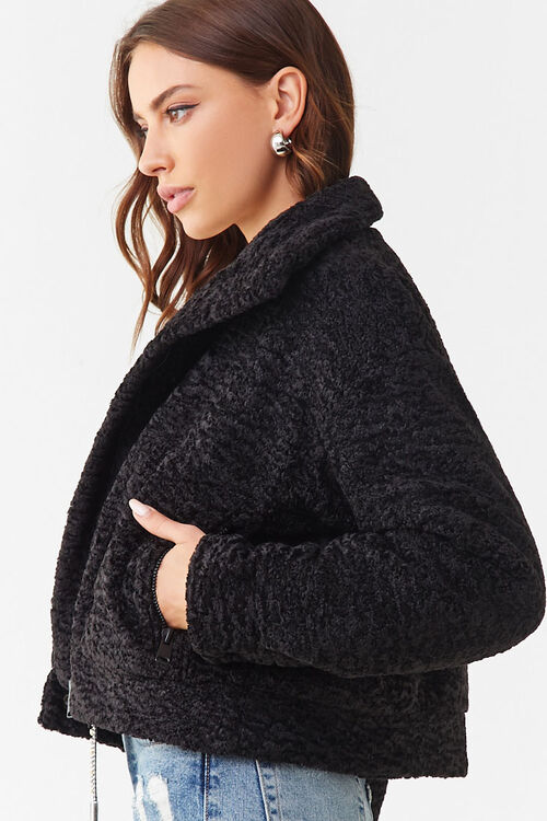 Faux Shearling Snap-Button Jacket, image 2