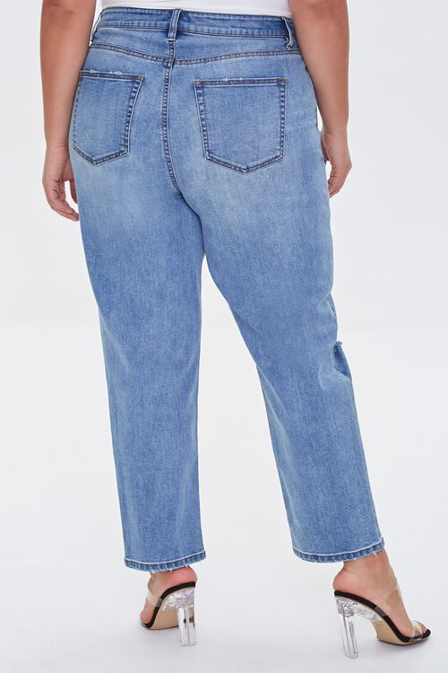 Plus Size Distressed Straight Jeans, image 4
