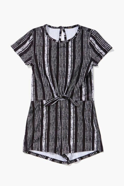 Girls Striped Knotted Romper (Kids), image 1