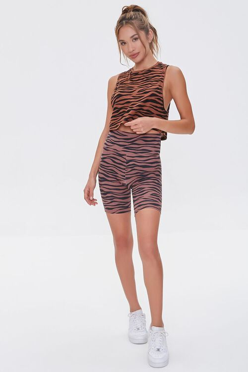 Active Tiger Striped Muscle Tee, image 4