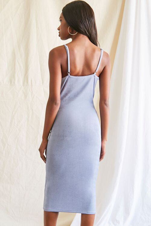 DUSTY BLUE Cowl Neck Cami Midi Dress, image 3