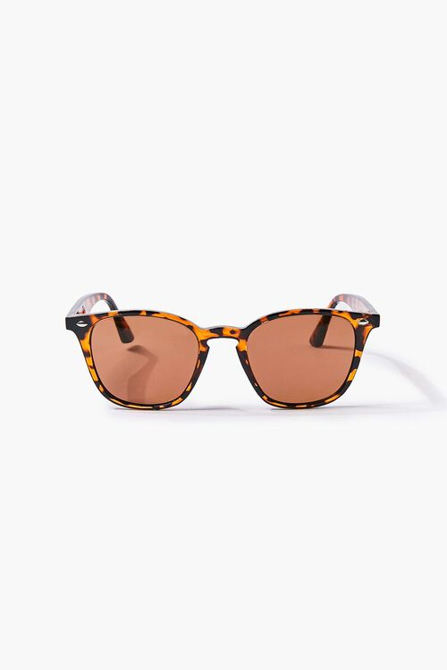 BROWN/MULTI Men Round Square Sunglasses, image 1