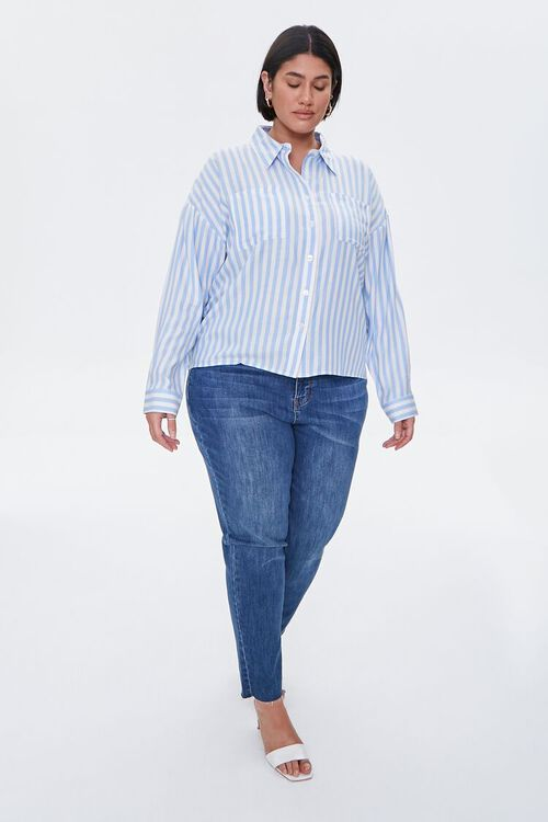 Plus Size Striped Shirt, image 4