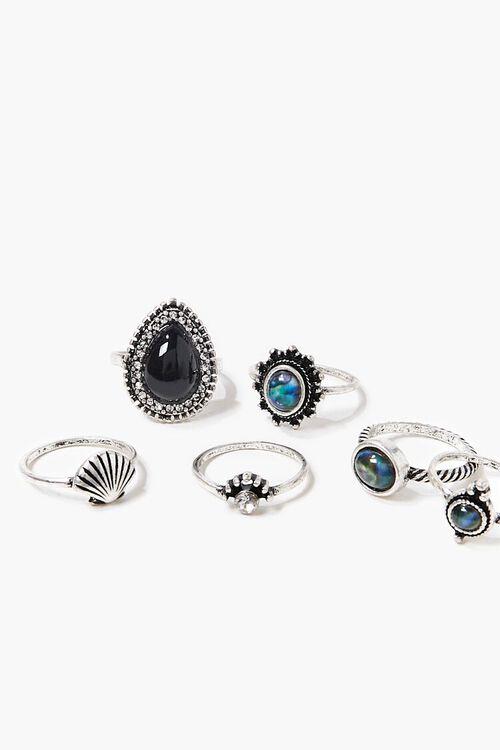 SILVER Seashell Charm Ring Set, image 2