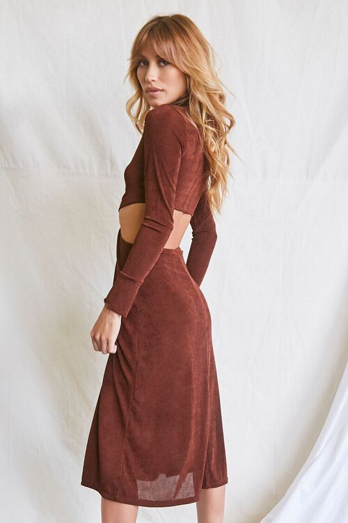 CHOCOLATE Button-Front Cutout Dress, image 2