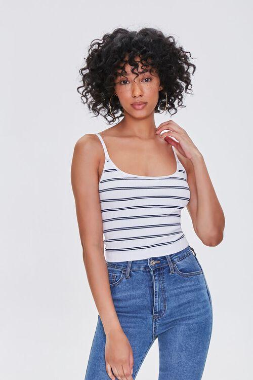 Striped Scoop-Neck Cami, image 1