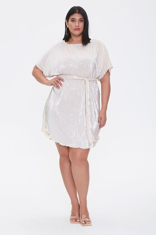 Plus Size Metallic Dolman Dress, image 4