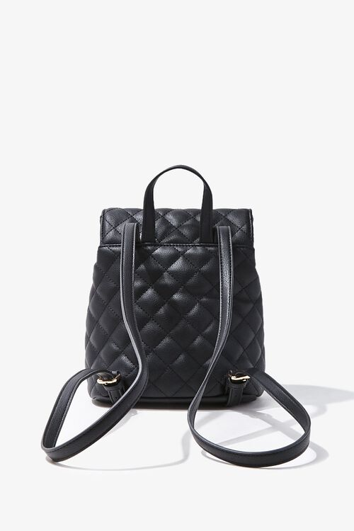 Quilted Faux Leather Backpack, image 3