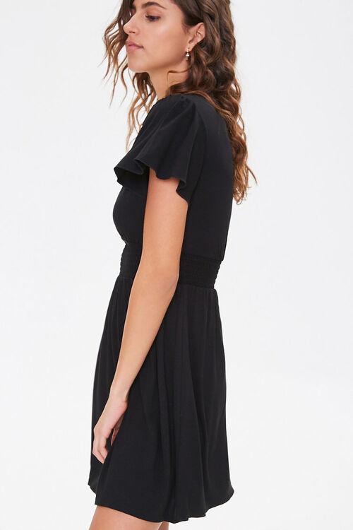 Smocked-Waist Skater Dress, image 2