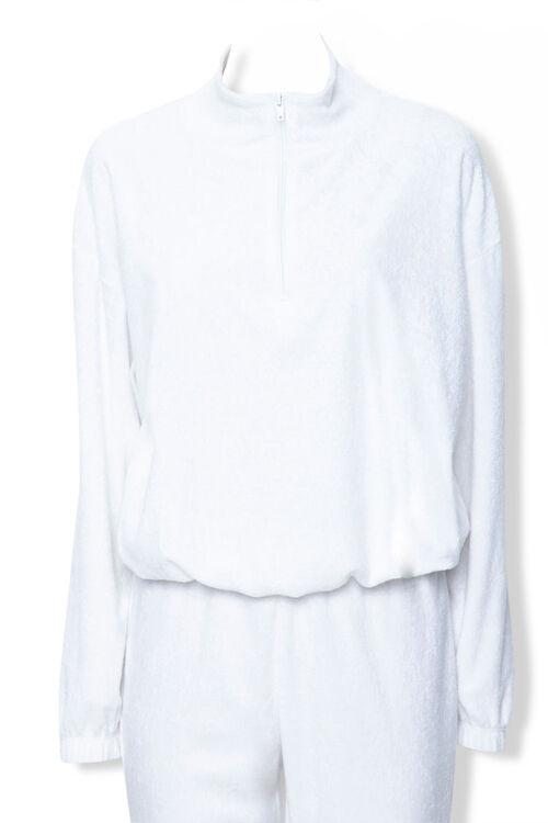 WHITE Terry Cloth Jacket & Sweatpants Set, image 3