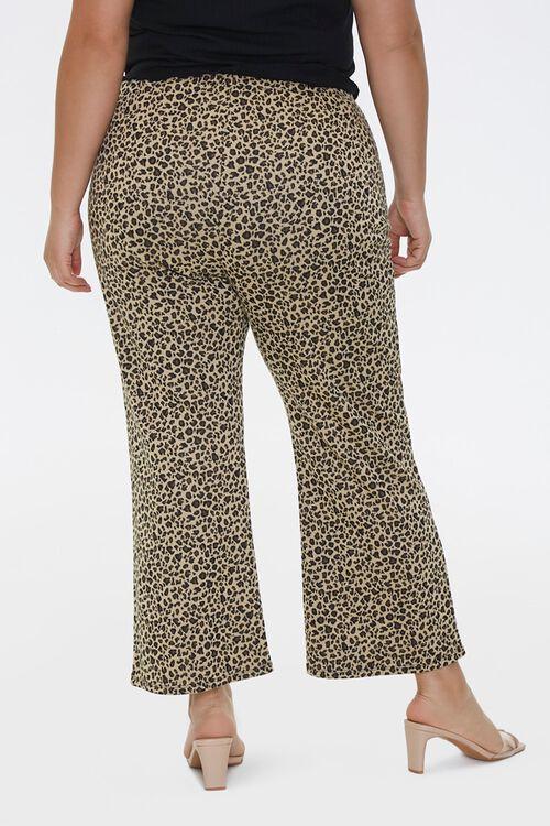 Plus Size Leopard Flare Pants, image 4
