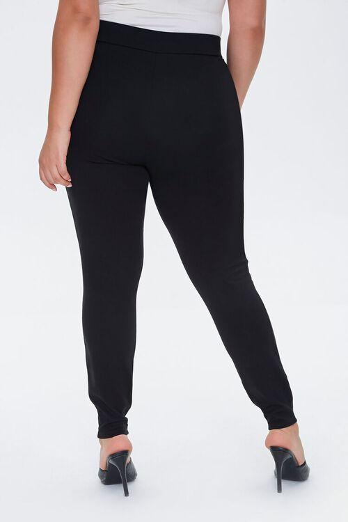 Plus Size Ponte Knit Leggings, image 4