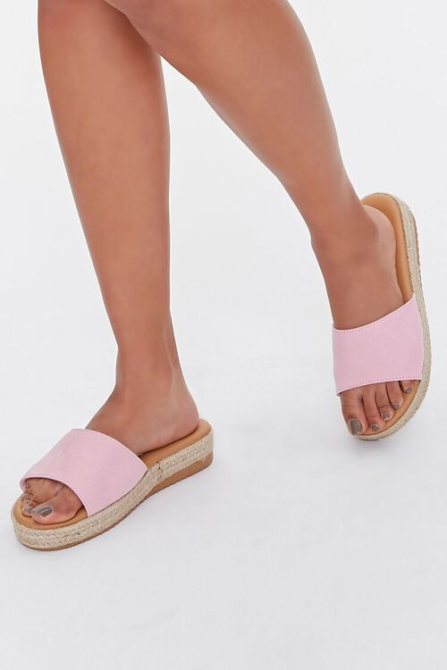 Faux Suede Espadrille Sandals, image 1