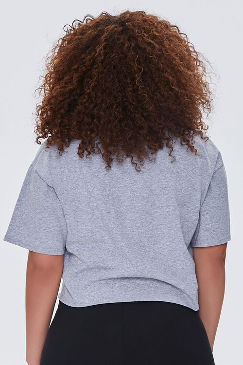 Plus Size Cropped Yale Graphic Tee, image 3