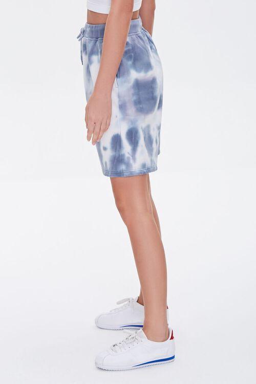 GREY/CREAM Bleached Drawstring Shorts, image 3