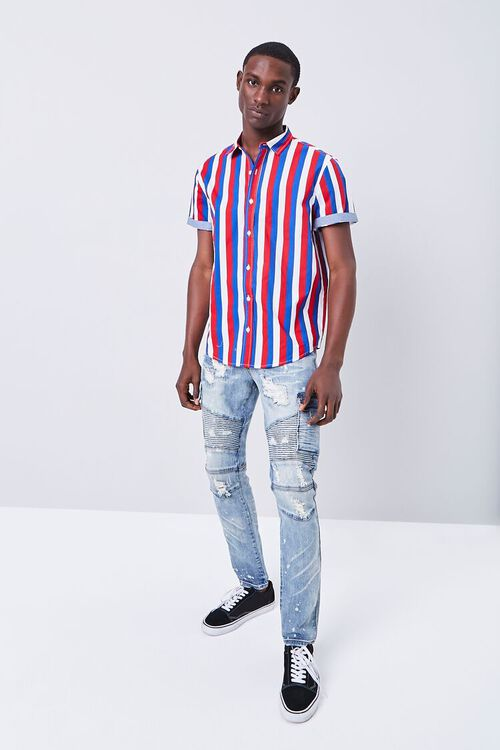 RED/MULTI Fitted Striped Print Shirt, image 4