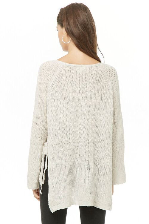 High-Low Side-Tie Sweater, image 3