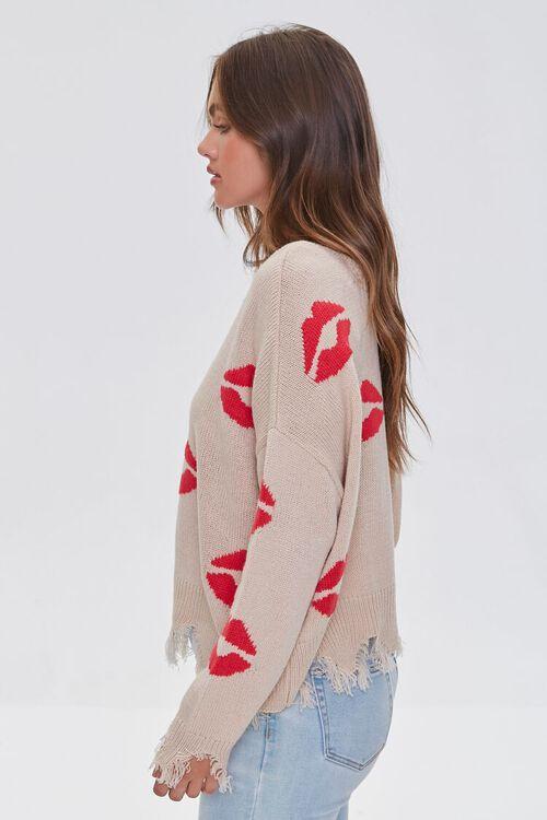 Lipstick Kiss Print Sweater, image 2