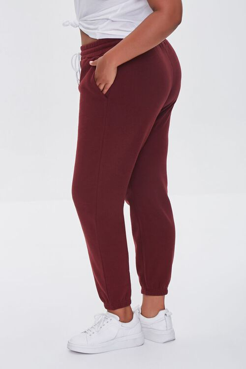 WINE Plus Size French Terry Joggers, image 3
