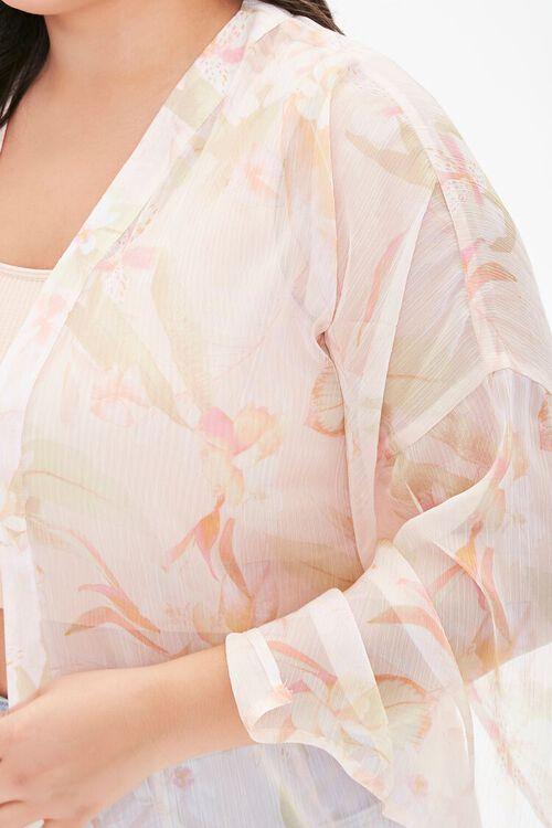Plus Size Tropical Floral Kimono, image 5