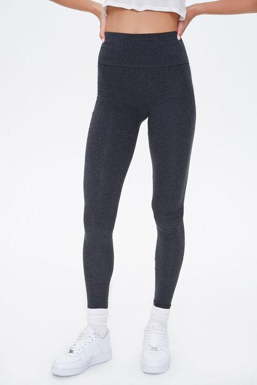 Basic Cotton-Blend Leggings, image 2