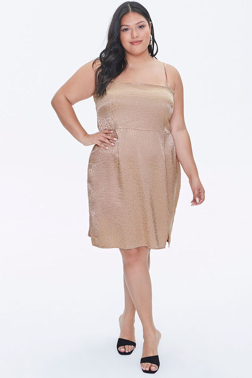Plus Size Jacquard Cami Dress, image 4
