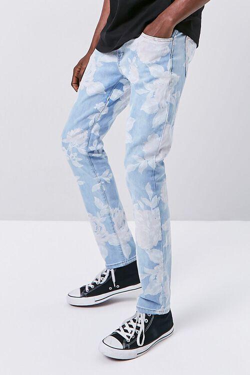 Rose Print Skinny Jeans, image 1