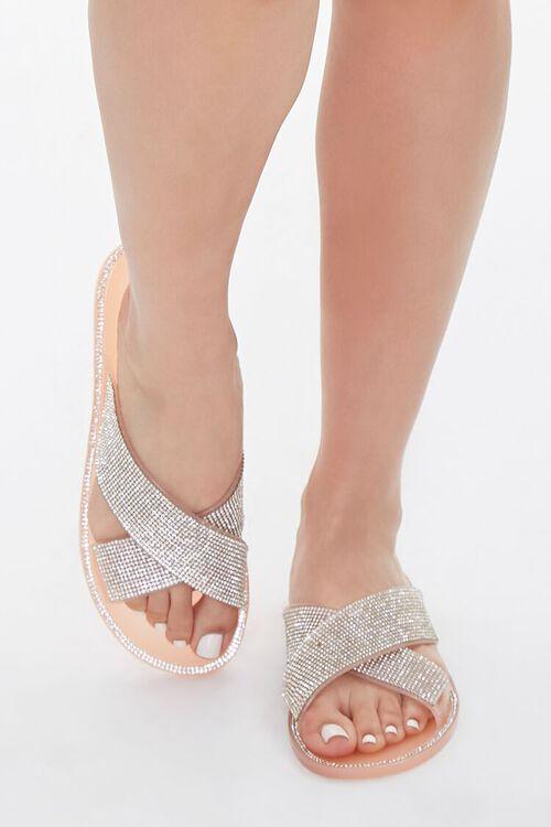 Rhinestone Crisscross Sandals, image 4