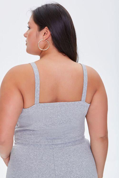 HEATHER GREY Plus Size Cropped Cami, image 3