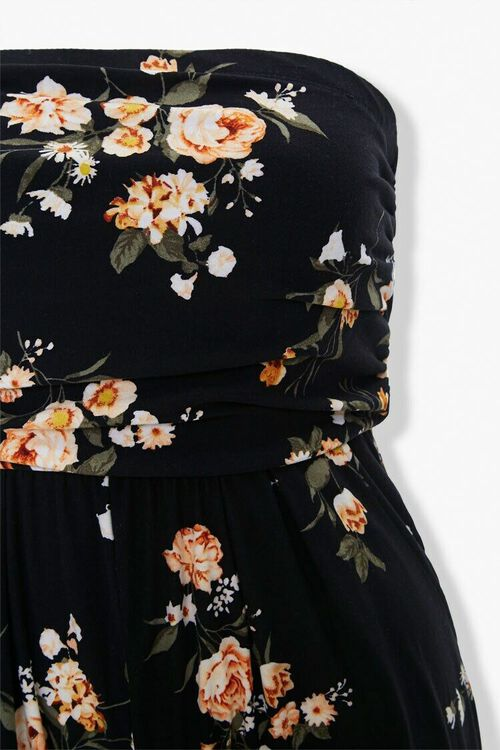 Plus Size Floral Tube Jumpsuit, image 4