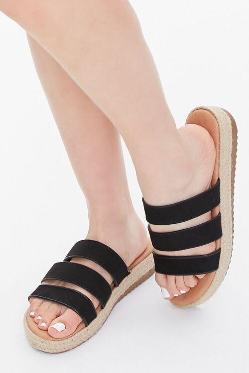 Triple-Strap Espadrille Sandals, image 1