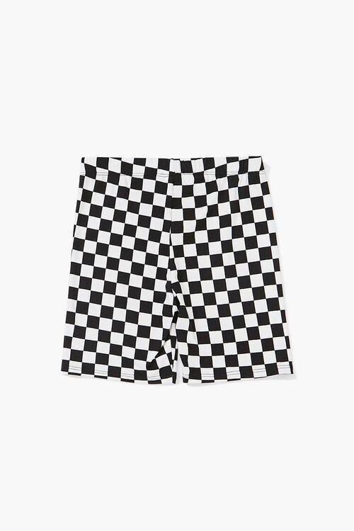 Girls Checkered Print Shorts (Kids), image 2