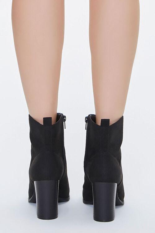 Faux Suede Block Heel Booties, image 3