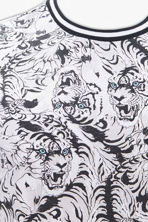 Tiger Print Ringer Tee, image 3
