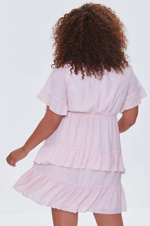 LIGHT PINK Plus Size Flounce Bow Dress, image 3
