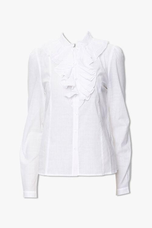Cotton Ruffle Shirt, image 1