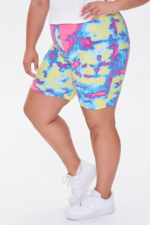 Plus Size Tie-Dye Biker Shorts, image 3