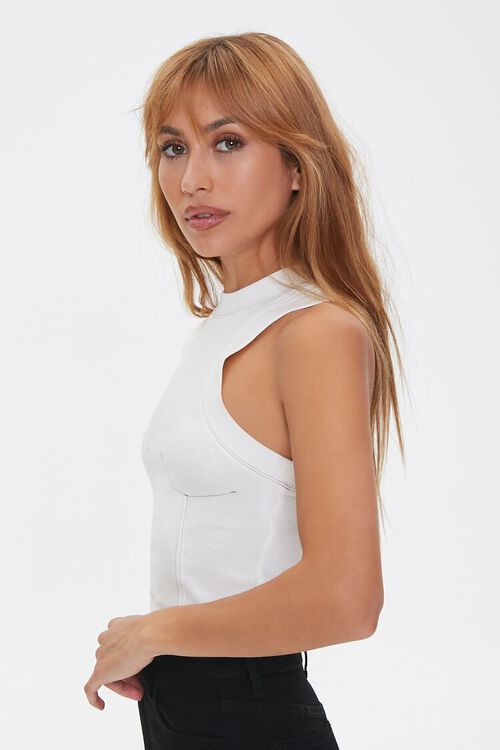 Topstitched Racerback Tank Top, image 2