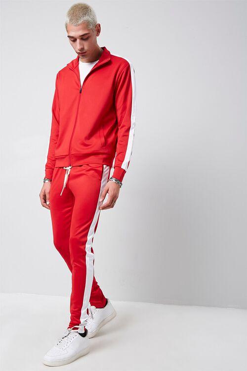 Ankle-Zip Side-Striped Sweatpants, image 1
