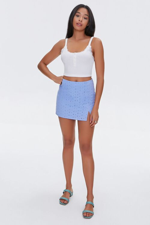 Lace-Trim Cropped Cami, image 4