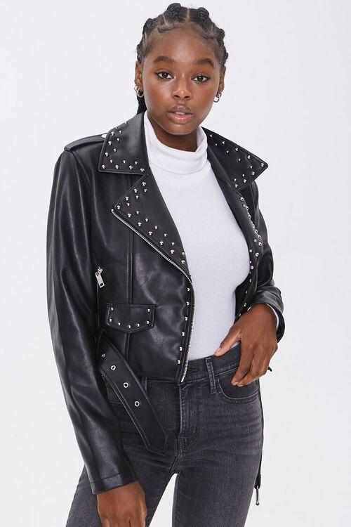 Studded Moto Jacket, image 1