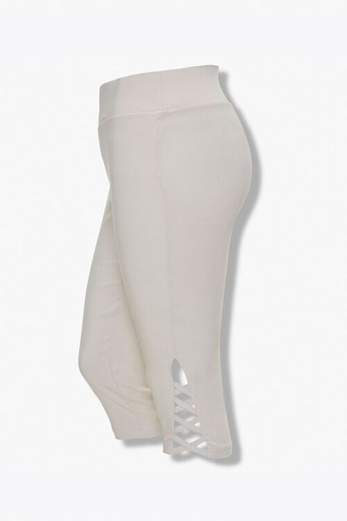Plus Size Caged Capri Leggings, image 1
