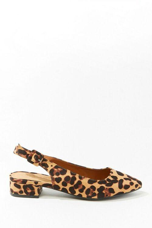 BLACK/BROWN Leopard Print Slingback Heels, image 1