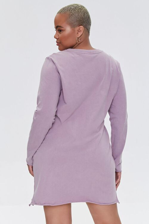 Plus Size Long-Sleeve T-Shirt Dress, image 3