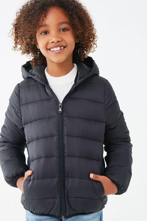 Girls Hooded Puffer Jacket (Kids), image 5