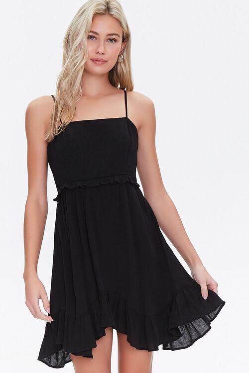 Ruffle-Trim Mini Dress, image 1